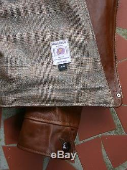 MONARCH 30s AVIATOR STYLE HB SIZE 44 ITALIAN LEATHER HORSE HIDE JACKET OR BUILD