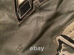 Men's vintage 90's Avirex Chief Lion Horse leather jacket gray size XXL