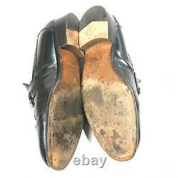 Mens vintage Gucci horse bit loafers size 9 D Black Slip On Shoes 1362