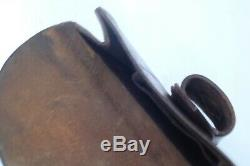 Mk III Officer's Spare Horseshoe Case WW1 Cavalry Equipment, vintage leather