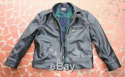 Monarch Hercules Style Half Belt Italian Leather Horse Hide Jacket Built To Suit