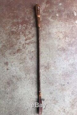 NICE Vintage Horse Riding Leather Crop Whip Concealed Dagger Equestrian