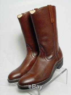 NOS NIB Vtg RED WING PECOS 1472 Men 11-A Brown Leather Western Horse Cowboy Boot