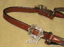 NWOT Vintage Silver Royal CIRCLE Y Show Halter with HORSE HAIR & ALPACA SILVER