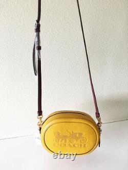 NWT Coach C4056 camera bag with horse and carriage im/ochre/vintage mauve