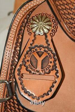 New 14.5 Circle Y Cheyenne All Around Saddle 2164-245605 Full Quarter Horse Bar