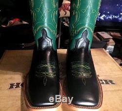 New VINTAGE Anderson Bean HORSE POWER Mens Leather Square Toe Cowboy Boots Sz 9D