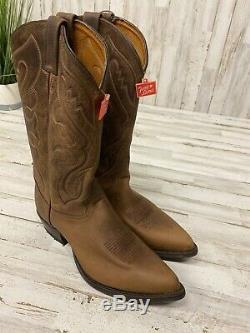 New Vintage TONY LAMA Size 10 D Tan Crazy Horse Mens Cowboy Boots 6478Z NIB USA