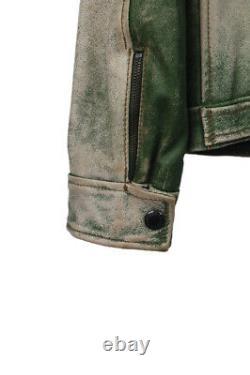 Original Dolce&Gabbana Men Horse Leather Bomber Vintage Look Jacket sz 50IT(M/L)