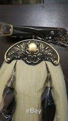 Original Horse Hair Sporran Leather vintage Scottish with tassels belts