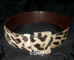 PRADA cintura belt vintage pelle leather cavallino horse fabric size 75 h. 5 cm