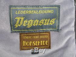 Pegasus leather jacket, horse hide jacket, halfbelt jacket, excl condt, size 40