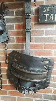 Pit pony vintage leather set horse bridle colliery or canal
