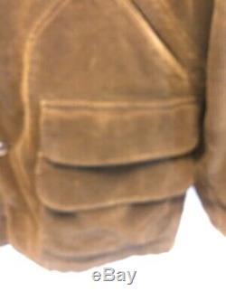 Polo Ralph Lauren Corduroy Shooting Hunting Jacket VTG Leather Trim Detail