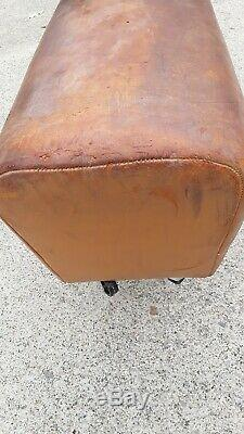 Pommel Horse Gymnastic Leather Bench Seat Desk Stool Handle Decor Sport Vintage