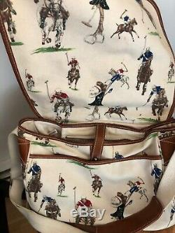 RALPH LAUREN Vintage POLO Player HORSE PRINT shoulder bag Crossbody Messenger