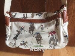 RALPH LAUREN vintage horse POLO PLAYING print crossbody shoulder handbag