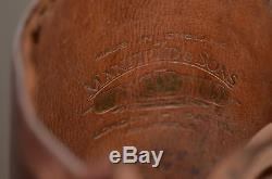 RARE 30's MANFIELD & SONS english EQUESTRIAN HORSE RIDING BOOTS brown leather 9