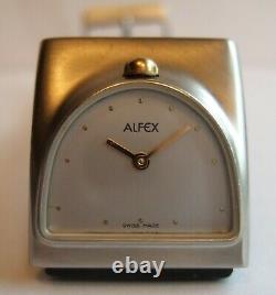RARE Vintage Women's Alfex Art Deco 5237 Moments SWISS Horse Shoe Quartz Watch