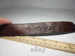 Ralph Lauren Leather Belt Polo Horses Vintage 1.25 Brass 32 Brown 404074373-43M