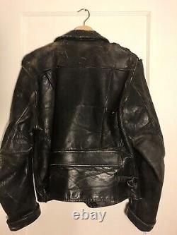Rare 1930's Block Bilt Horse Hide Leather Motorcycle Jacket (for repair)