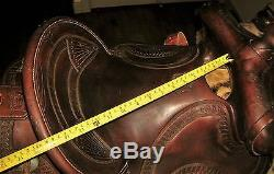 Rare Vintage 15 Powder River Ranch Saddle Western Leather Horse Tack