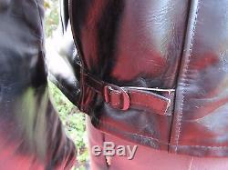 Rare Vintage 1950's Excelled Leather Horse Hide Jacket Black Motorcycle