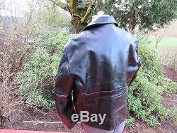 Rare Vintage 1950's Excelled Leather Horse Hide Racer Motorcycle Jacket Black