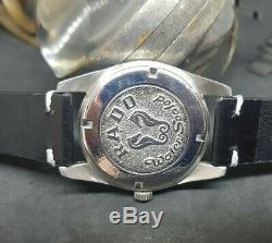Rare Vintage 70's Rado Green Horse Date Blue Dial Auto Man's Watch