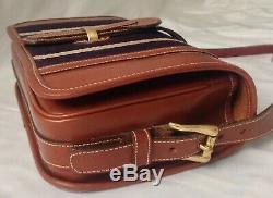 Rare Vintage Dooney&Bourke Equestrian Green Label Made In USA Crossbody Handbag