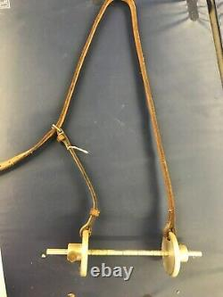 Saddlery Vintage rare horse bit fit guage Jeffries. Metal and leather chifney