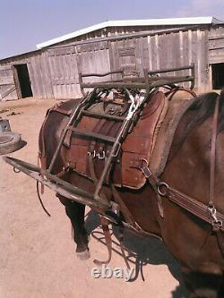 Swiss Army Pack Saddle horse/mule metal and leather excellent condition