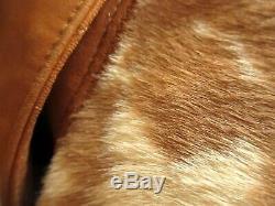 Sz 46 True Vtg 80's Scully Leather PONY HORSE HAIR Rancher Cowboy BLAZER JACKET