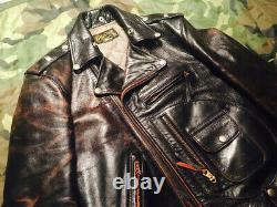 THE REAL McCOY'S BUCO Vintage J-24 D Pocket Riders Size 34 Finest Horse Leather