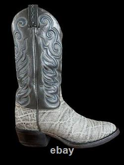 TONY LAMA Vintage Rare EXOTIC 8501 Gray Cowboy Boots Mens Size 8.5 D BLACK LABEL