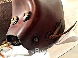 Tapadero Stirrups Vintage Leather Cowboy Horse Riding Stirrup Studded
