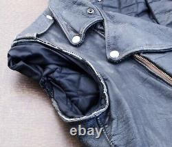 The Real McCoy's Buco Vintage J-24 D Pocket Riders Size 40 Steerhide Leather