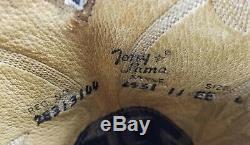 Tony Lama Wingtip Cowboy Boots Vintage 80s Gold Label US Handmade Men's 11 EE 2e