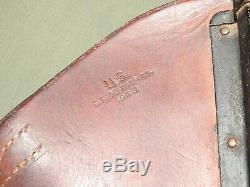 US Army WW2 CAVALRY JEEP HARLEY WLA M-1 GARAND LEATHER RIFLE SCABBARD 1943 Vtg