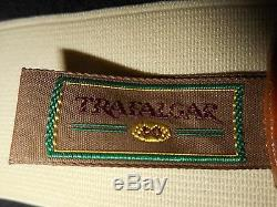 USA VinTage Trafalgar Silk Suspenders Horse Equestrian Fox Hunt Leather Fittings