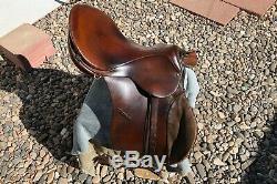 Used Vintage JOHS STUBBEN SIEGFRIED 17.5 ENGLISH Horse SADDLE Leather Suede