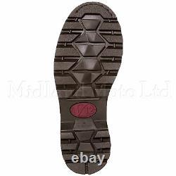 V12 Rawhide Steel Toe Cap Safety Dealer Boots Brown Leather Chelsea V1231