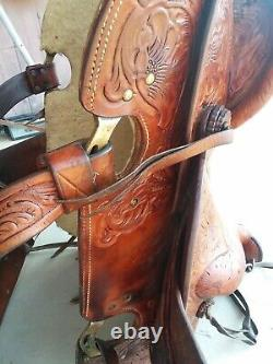 VINTAGE CUSTOM MADE HORSE SADDLE CIRCA 1970'S, western collectables, horse tack
