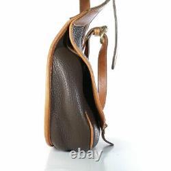 VINTAGE Dooney & Bourke Bag Brown AWL Cavalry Saddle Bag R71 LOVELY