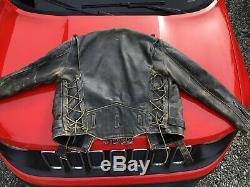 VINTAGE Iron Horse Harley mc LEATHER JACKET 80's Panhead Knucklehead Shovelhead