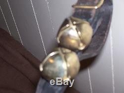 Vintage Leather Strapped Horse Sleigh Bells 30pcs. 74 Buckled Strap L@@k