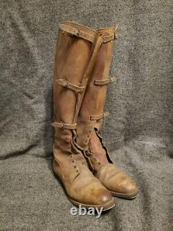 VINTAGE OR ANTIQUE LEATHER CAVALRY RIDING BOOTS PEAL & CO ENGLAND EARLY 1900s