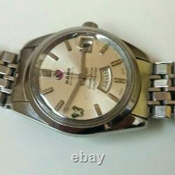 VINTAGE RADO GREEN HORSE DAYMASTER STEEL DAY DATE AUTOMATIC SWISS WATCH Ca 1975