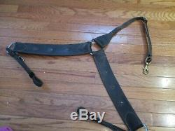 VINTAGE THICK Western PARADE TACK SET BLACK BLING Leather FULL horse Size