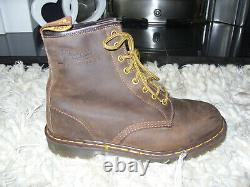 VINTAGE dr marten boots CRAZY HORSE sz 8 MADE IN ENGLAND NEW WITHOUT BOX